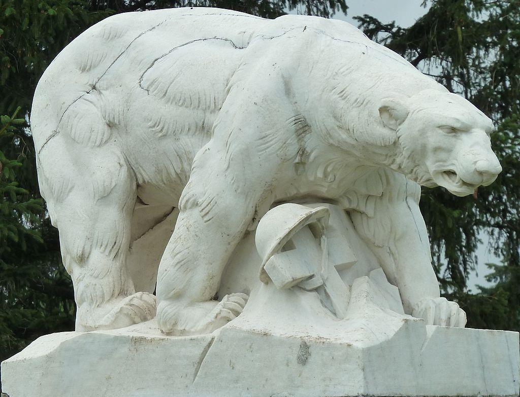 Polar Bear Monument left-front