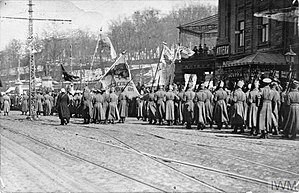 Ukrainian People's Army - Ukrainian soldiers in Kiev in 1917.