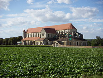 Cistercians - Fields surrounding the early French Cistercian Abbey of Pontigny