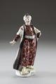 Porslinsfigur föreställande turk, gjord under 1800-talets andra hälft - Hallwylska museet - 93619.tif