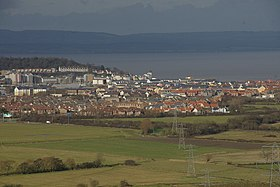 Portishead, vu de Naish Hill
