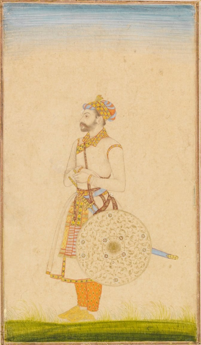 Portrait of a Mughal officer