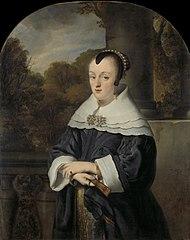 Portret van Maria Rey (1630/31-1703), wife of Roelof Meulenaer