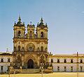 Portugalia Alcobaga klasztor santa Maria barokowa fasada z XVIIIw 02.jpg