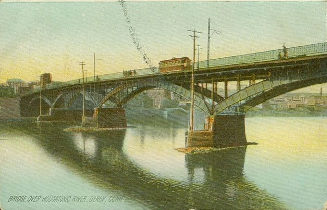 English: Postcard picture of a bridge over the...