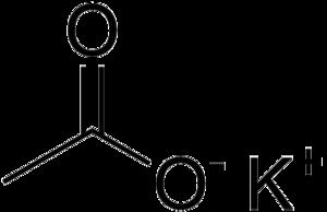 Potassium acetate - Image: Potassium acetate skeletal