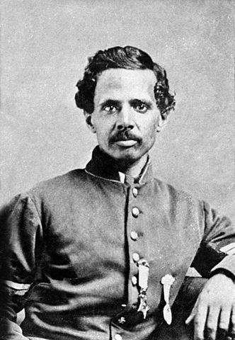 Powhatan Beaty, a soldier in the Black Brigade of Cincinnati, who enlisted in the 5th United States Colored Cavalry, was promoted to first sergeant, and was later awarded the Medal of Honor for valiant Union Army service in Virginia