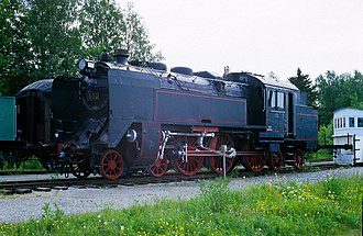 Henschel & Son - Henschel built (1941) 4-6-4 VR Class Pr2 steam locomotive (no. 1800) at Haapamäki Steam Locomotive Museum in Keuruu, Finland