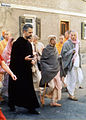 Prabhupada on a morning walk with Father Emmanuel Jungclaussen.jpg