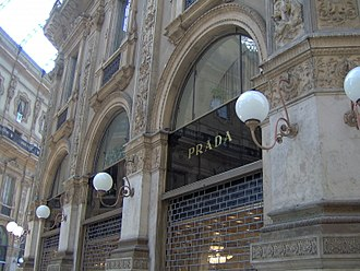 Prada - The Prada boutique at the Galleria Vittorio Emanuele II in Milan, Italy.