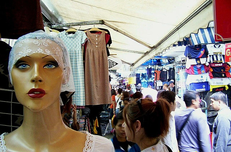 Pasar Pratunam, Bangkok, Thailand.