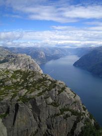 Cliffs along the Lysefjord in southwest Norway