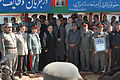 President Hamid Karzai arrives at the Central Training Center, Kabul, Afghanistan. DVIDS234227.jpg