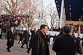 President Obama waves to the crowd in 57th Presidential Inaugural Parade 130121-Z-QU230-194.jpg