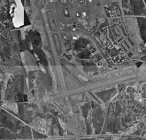 Northern Maine Regional Airport at Presque Isle - USGS 1996 orthophoto