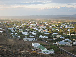 Prince Albert, Western Cape - View overlooking Prince Albert