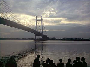 Geography of Kolkata - The Prinsep Ghat which is located on the bank of the Hoogly River