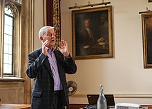 "Prof Keith Ward, former Regius Professor of Divinity, Oxford, speaks on ""Oxford Theologians in the 20th Century"" to dminlgp at Christ Church, Oxford (30043044275).jpg"