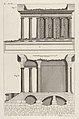 Profile of the Temple of Fortuna Virilis (Profilo del Tempio della Fortuna Virile), and section of the temple, from the series 'Le Antichità Romane' MET DP831896.jpg