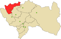 Location of Junín in the Junín Region