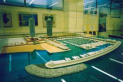 Scale model of the Port Olympic