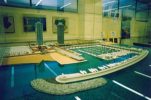 Sailing at the 1992 Summer Olympics - Scale model of the Port Olympic