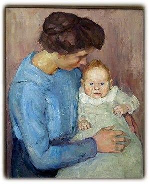 Doramaria Purschian - Mother and Child, 1925
