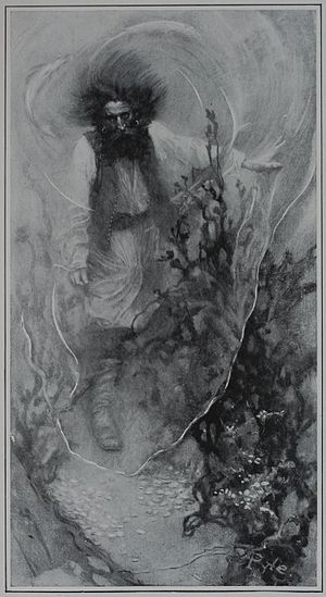Ghost story - The ghost of a pirate, from Howard Pyle's Book of Pirates (1903)