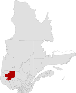 Quebec MRC La Vallée-de-l'Or location map.svg