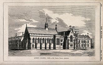 Thomas Newenham Deane - Queen's College Cork (now University College Cork) c. 1848 by JJ Laing