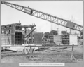 Queensland State Archives 3456 South anchor pier final pours of concrete around anchorage links Brisbane 1 March 1937.png