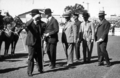 Queensland State Archives 3816 Governor General Lord Stonehaven and Governor Sir John Goodwin arriving for Official Opening of the RNA Show 1930.png