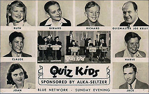 Quiz Kids - 1940s postcard sent to listeners who submitted questions for the radio show.