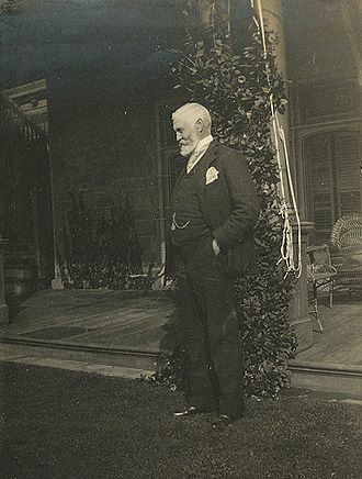 Richard B. Angus - R.B. Angus at his country home, Pine Bluff, 1900. Courtesy of the McGill Library