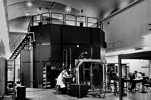 R1 (nuclear reactor) - The R1 nuclear reactor in the 1960s.