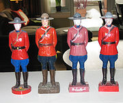 A collection of R.C.M.P. souvenirs from around Canada.