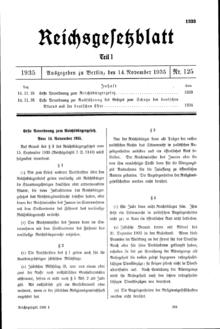 """Поправка к Закону о гражданстве Рейха, определяющая еврейство Принадлежность к  """"германской крови """" ."""