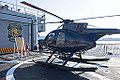 ROCN Hughes 500 6910 Carried on Lan Yang (FFG-935) Helicopter Deck Left View 20141123.jpg