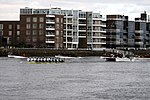 Racing boats during the The Boat Race in spring 2013 (2).JPG