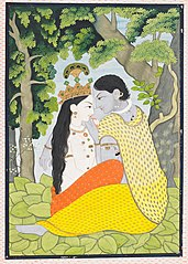 Radha and Krishna Dressed in Each Other's Clothes (Lilahava)