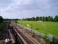 Railway and sports grounds by Long Road, Cambridge - geograph.org.uk - 179332.jpg