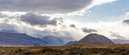 Rainy clouds over Wild Mans Brother Range, Canterbury, New Zealand.jpg