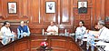 Rajnath Singh chairing a meeting of the High Level Committee for Central Assistance to States affected by the Natural Disasters, in New Delhi. The Union Minister for Finance.jpg