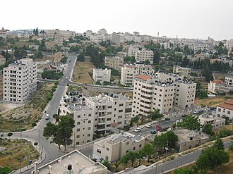 Ramallah - Residential neighborhood in Ramallah.