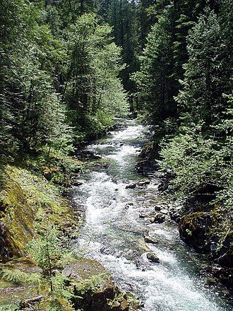 Bull of the Woods Wilderness - Image: Rapids on Elk Lake Creek in Bull of The Woods wilderness, Oregon
