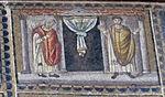 Ravenna, sant'apollinare nuovo, int., storie cristologiche, epoca di teodorico 10,2.jpg