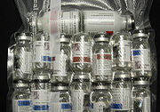 Numerous vials of injectable Anabolic Steroids.