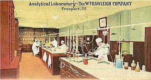 William Thomas Rawleigh - Postcard of the Rawleigh Analytical Laboratory in Freeport, Illinois.