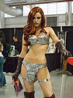 Cosplay de Red Sonja.