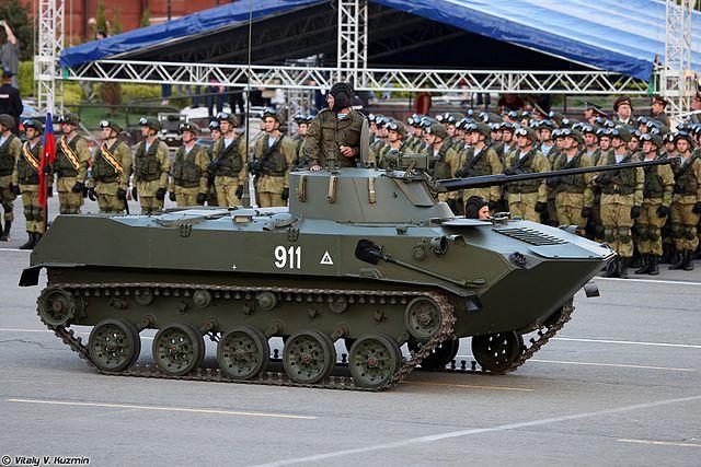 BMD-2 at May 2017 parade reharsal